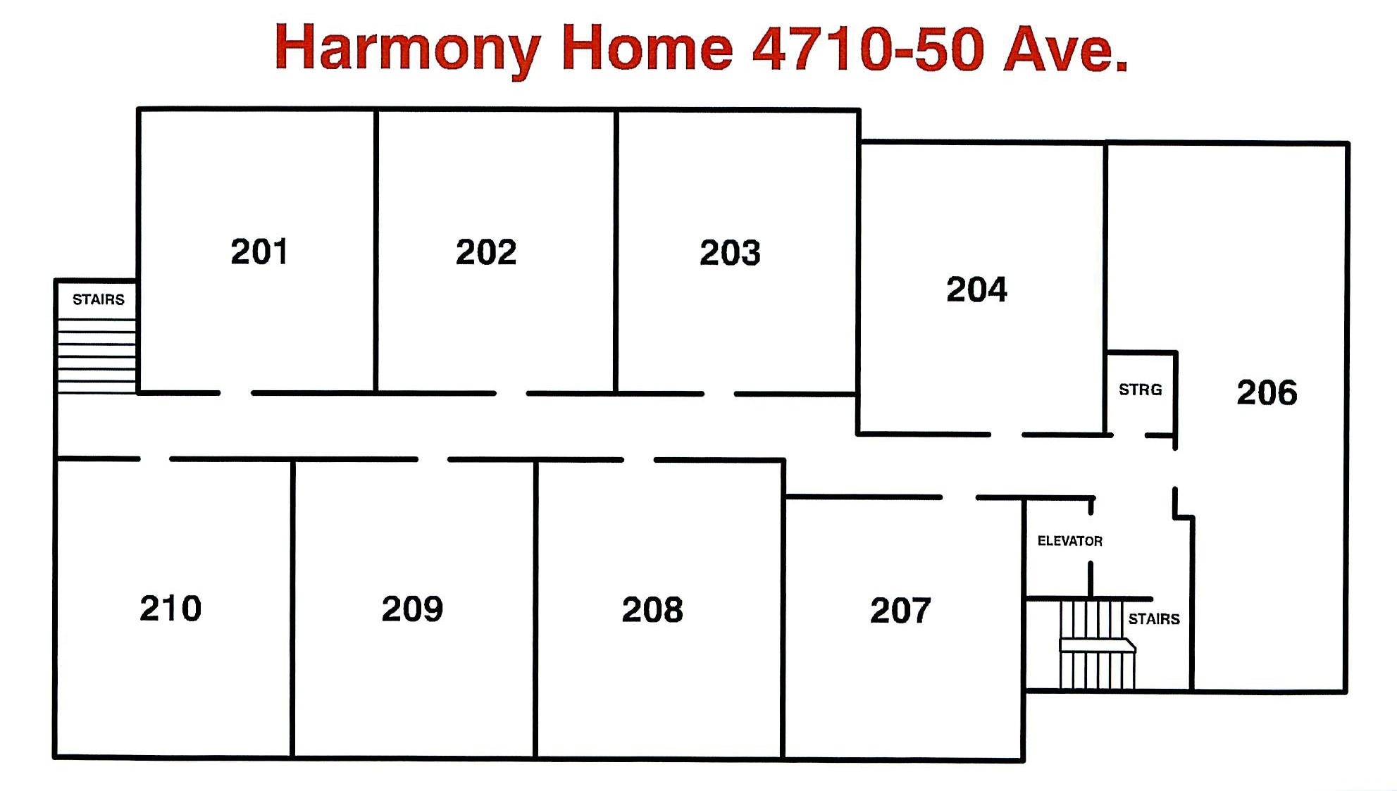 Floor Plan - Harmony Home 2nd Floor May 2018