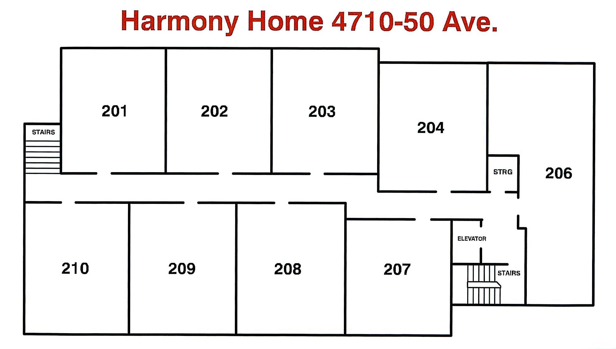 Floor Plan - Harmony Home 2nd Floor May 2018