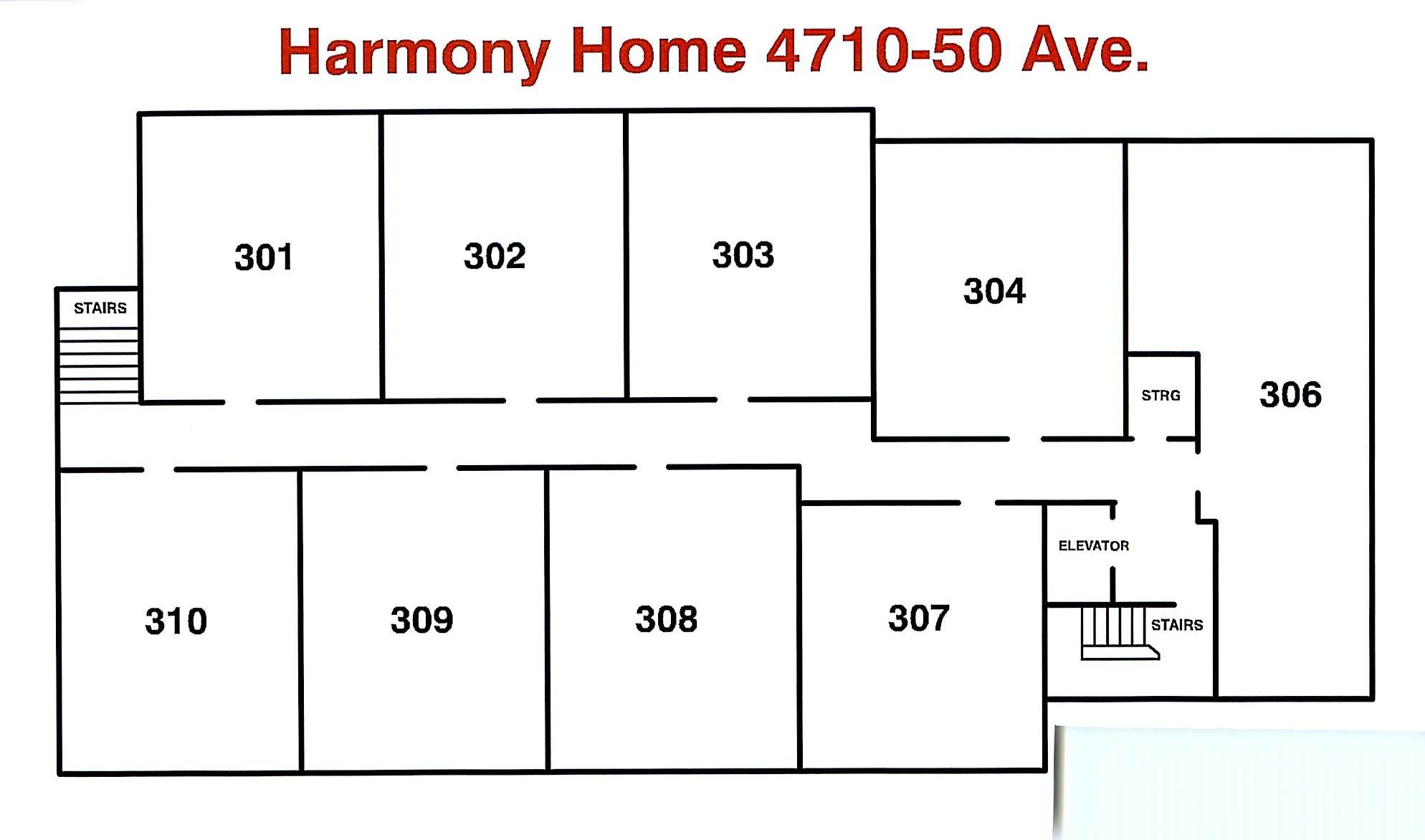 Floor Plan - Harmony Home 3rd Floor May 2018